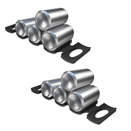 kwmobile 2x Faltbarer Flaschenhalter Kühlschrank Schrank - 31 x 9,5 x 1,0cm - Silikon Flaschenablage Stapelhilfe Set in Schwarz