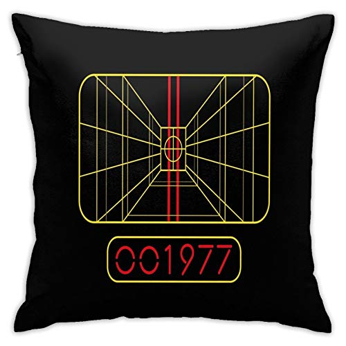 Stay On Target 1977 Targeting Computer Home Decorative Throw Pillow Covers for Sofa Couch Cushion Pillow Cases 18x18 Inch