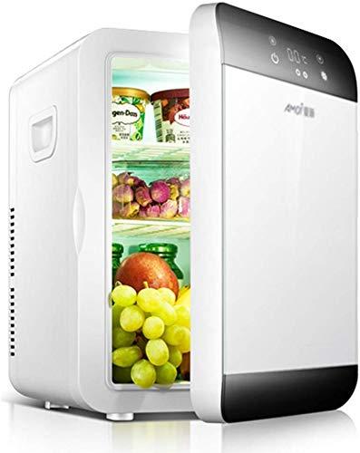 Mini-koelkast, slaapkamer, koelkast en auto, met dubbel gebruiksdoel, koude verwarming, temperatuur instelbaar van 20 liter. 33 * 29 * 41CM/13 * 11 * 16INCH grijs