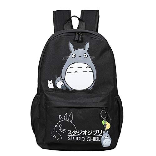 Anime My Neighbor Totoro Cosplay Daypack Bookbag College Tasche Rucksack Schultasche (Schwarz 1)