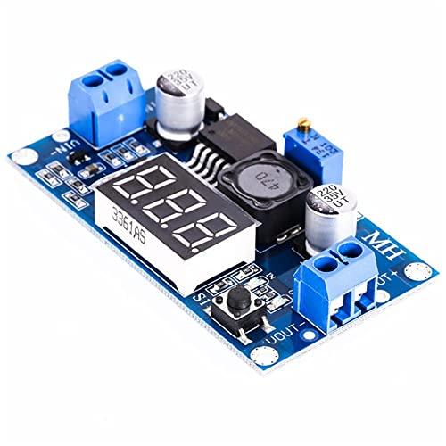 ZHOUCHENPQ Outils Module de convertisseur d alimentation LM2596 Progressive DC 4.0-40 à 1,3-37V Voltmètre LED