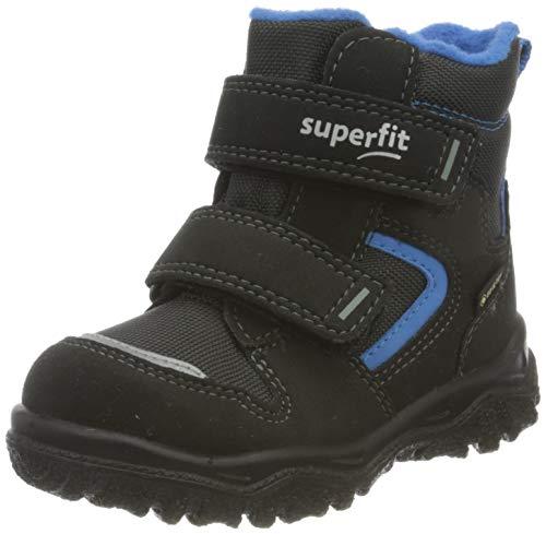 Superfit Baby Jungen Husky1 Schneestiefel, Schwarz Blau 0000, 26 EU