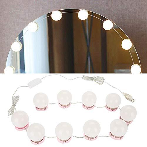 LED Cosmetic Mirror Bulb Sucker USB Bombillas LED Luz de espejo Vanity Mirror Lights Kit de lámpara LED para maquillaje Vanity Table Set en el vestidor