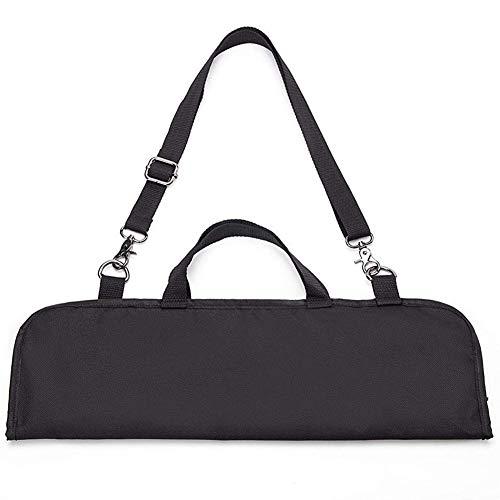 QEES - Bolso para Cuchillos (10 Compartimentos, Correa para el Hombro y Correa de Mano), Color Negro