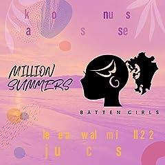 ばってん少女隊「MILLION SUMMERS」の歌詞を収録したCDジャケット画像
