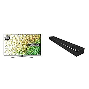 LG 55NANO866PA 55 inch 4K UHD HDR Smart NanoCell TV with LG SN7CY All-in-one Sound Bar and LG TONE Free FN6 True Wireless Bluetooth Earbuds