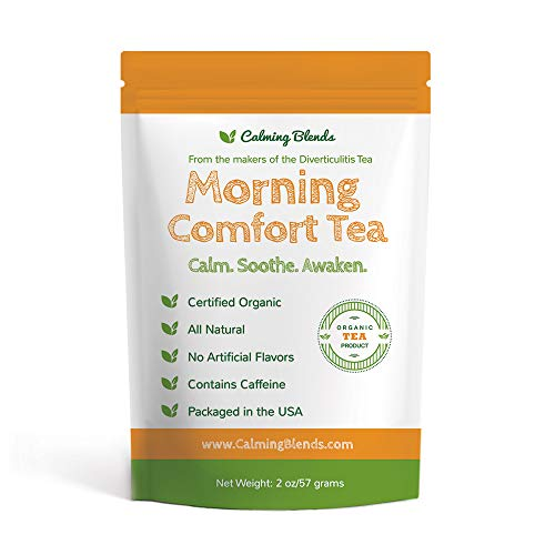 Calming Blends Morning Comfort Tea | Diverticulitis and Diverticulosis Tea, Certified Organic, Supports Digestive Health | 36 cups