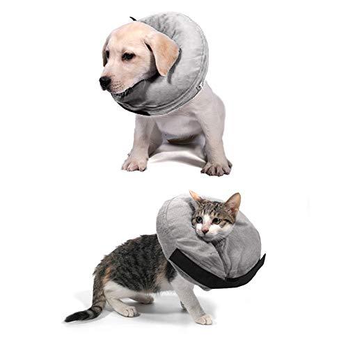BFYDOAA Cuello de cono suave ajustable perro cachorro gato mascota veterinario lesiones cuello círculo médico