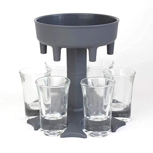 Bireegoo Weinspender mit 6 Löchern, Getränkespender, Kunststoff-Bierspender für Zuhause, Partyzubehör, schnelles Gießen von Wein