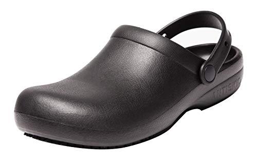 Oil Water Resistant Nursing Chef Shoes Kitchen Garden Bathroom Non-Slip Safety Working Shoes for Men and Women (10 Men / 11 Women / 10.63″, 44 Black)