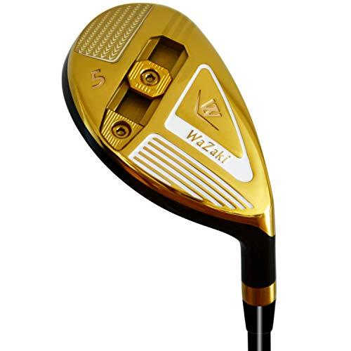Japan Wazaki WL-III Mx acero ajustable híbrido de hierro único club de golf con cubierta, 23 grados loft regular, eje de grafito de 65 g, diestro