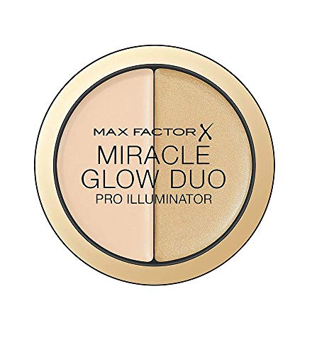 Max Factor Miracle Glow Duo Highlighter Light 10 – Highlighter Puder mit Gold Schimmer – Für...