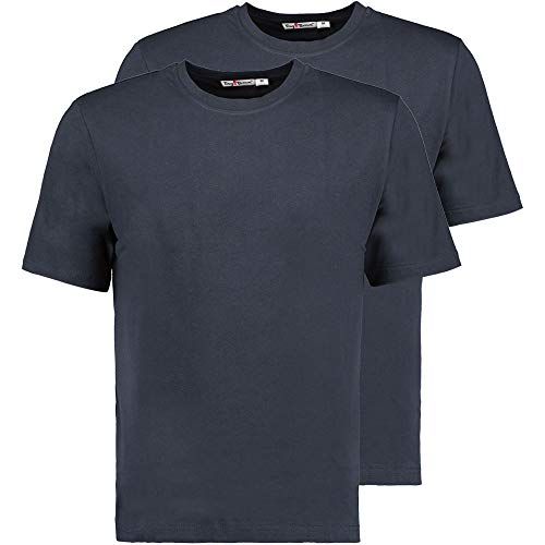 Tony Brown Herren T-Shirt Rundhals | Navy | Shirt | Unifarben | Basic Shirt (3XL, 2er Set)