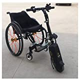 OLLTT Cabezal de manejo Deportivo para Silla de Ruedas Accesorio para Silla de Ruedas Cabezal de manejo eléctrico Adecuado para Personas discapacitadas con dificultades de Movilidad, Ancianos y débi