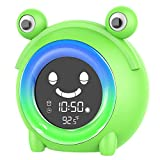 Kids Alarm Clock Children's Sleep Training Clock Colorful Night Light OK to Wake Clock with Temperature Detect NAP Timer for Bedroom Teach Girls Boys Time to Wake up