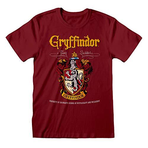 Harry Potter Gryffindor Crest Novio Ajuste De La Camiseta De Las Mujeres| mercancía Oficial