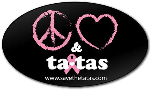 Ranking TOP14 Peace Love ta-tas Bumper Courier shipping free shipping - Black Magnet