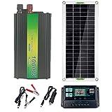 Panel System Panel solar 12V 24V / 30W solar 40A / 60A regulador del cargador de 220V 1000W inversor solar Kit completo Generación de energía