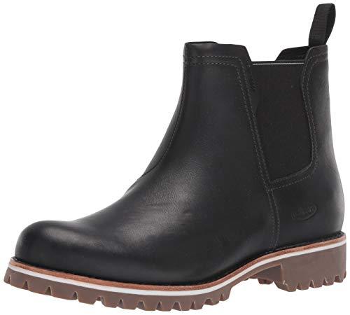 Chaco womens Fields Waterproof Chelsea Boot, Black, 9.5 US