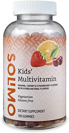 Amazon Brand Solimo Kids Multivitamin 190 Gummies product image