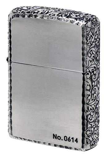 ZIPPO ジッポーライター オイル ライター 3面深彫エッチング&リューター アラベスク (B) 銀いぶし