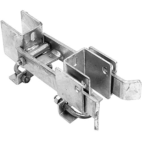 Chain Link Residential Strong Arm Double Gate Latch - Latches Two Gates Together Without The Need of a Drop Rod - Chain Link Double Gate Latch for 1-3/8' Gate Frames