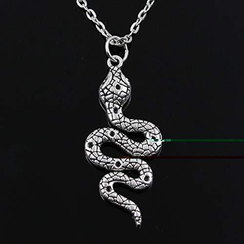 Dfgh Nieuwe mode slang cobra Hangers ronde doorsnede keten korte lange Mens Womens zilveren ketting in kleur Jewelry Gift (Main Stone Color : 50cm Length, Metal Color : Cross chain)