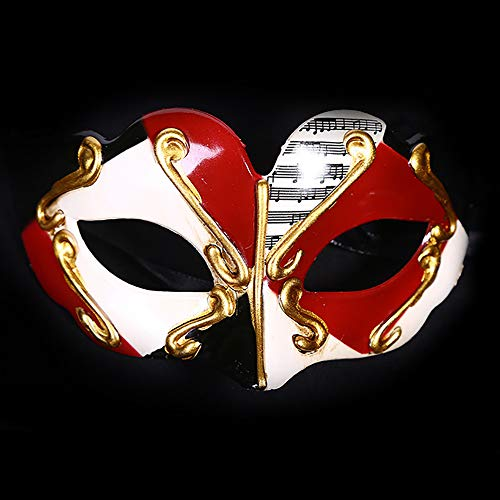 YGD Masker, Prom Masker, Halloween Maskerade Masker/Platte Hoofd Half Gezicht Hard Kunststof Children's Masker/Vakantie Masker, B