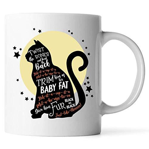 N\A Personalizar Tazas Divertido Disfraz de Halloween - Regalo Impresionante para Amigos Amantes de los Gatos Taza de caf con Leche
