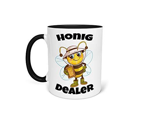 Tasse Kaffeetasse mit Imker Imkerei Honig Biene Wabe Beidseitiger Druck - Imkerbedarf