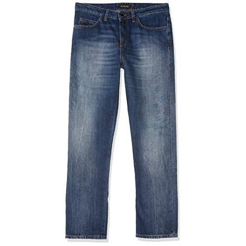 Pinko Becca 1 Boy Cropped Denime Jeans Boyfriend, Blu (Indaco F94), 25 Donna