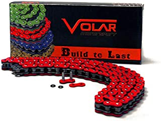 Volar O-Ring Motorcycle Chain for Extended Swingarm - Red for 520 x 150 Links