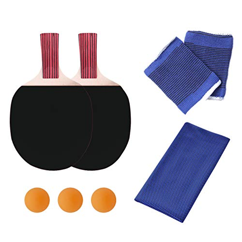 Best Deals! KINDOYO Table Tennis Racquet - Suit for Beginners and Athletes Training Racket