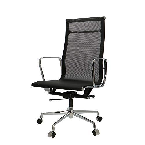 Popfurniture Eames Bureaustoel, managersstoel, bureaustoel van mesh, in hoogte verstelbaar