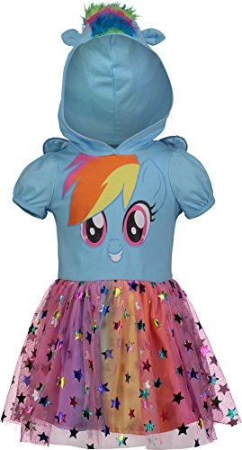 My Little Pony Rainbow Dash Toddler Girls Costume Dress with Hood and Wings 5T