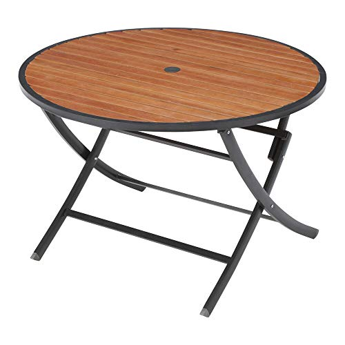 ラウンドテーブル 天然木製 折りたたみ式 ガーデンファニチャー 22BT-MT