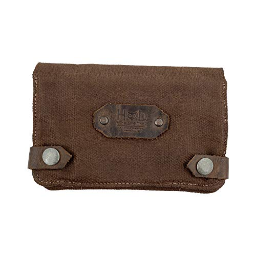 Hide & Drink, Soft Waxed Canvas Tobacco Pouch, Smoking and Field Notes Case, Classic Vintage Birthday Gifts, Smoking Essentials Handmade :: Honey Bourbon