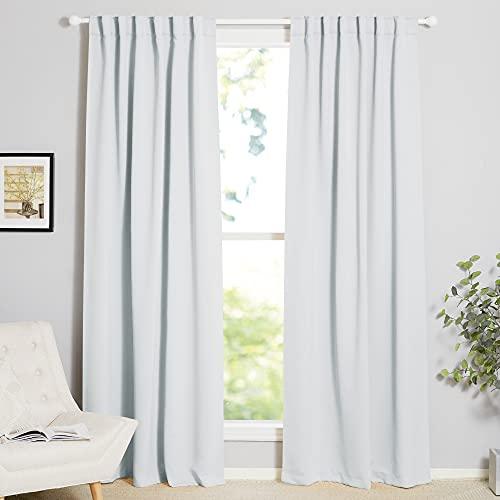 NICETOWN Living Room Darkening Curtain Drapes - (Cloud Grey) W52 x L84, Set of...