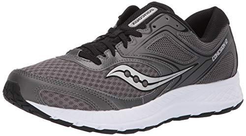 Saucony Men's Versafoam Cohesion 12 Road Running Shoe, gunmetal/black, 11 M US