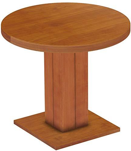B.R.A.S.I.L.-Möbel Brasilmöbel Säulentisch Rio UNO Rund 90 cm Kirschbaum Tisch Esstisch Pinie Massivholz Esszimmertisch Holz Küchentisch Echtholz Größe und Farbe wählbar