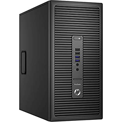 HP ProDesk 600 G2 Tower Desktop PC, Intel Quad Core i5 6500 up to 3.6GHz, 16G DDR4, 240G SSD + 1T HDD, WiFi, BT 4.0, DVD, Windows 10 Pro 64-Multi-Language Support English/Spanish/French(Renewed)