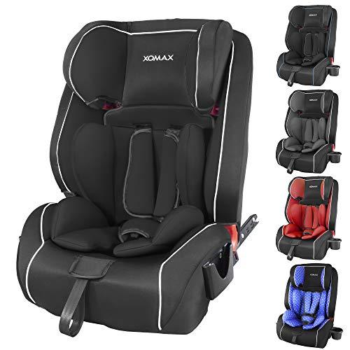 XOMAX HQ668 Seggiolino auto 9-36kg ISOFIX con portabiberon I crescita con il bambino: 1-12 anni, gruppo 1/2/3 I cintura a 5 punti e cintura a 3 punti I rivestimento sfoderabile e lavabile