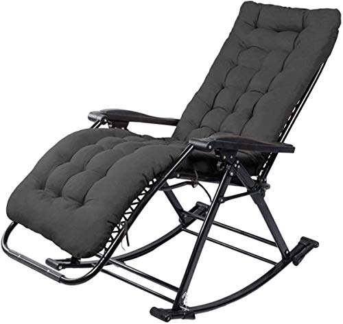 Classic Lounge Chairs Sun Lounger/Sun Lounger Chair, Zero Gravity Patio Sun Rocking Loungers with Cotton Pad Supports 200kg Office BeachAdjustable Portable Deck Chair *upgrade