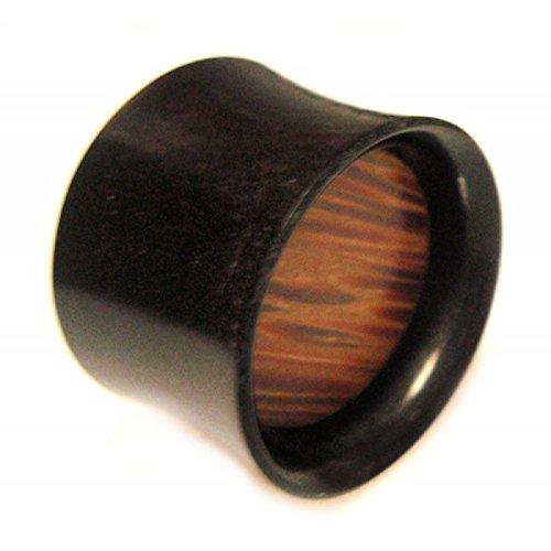 Chic-Net Horn Plug Flesh Tunnel Büffelhorn Palm Holz Organic Expander Tribal Piercing Ohrstecker Plugs 20 mm