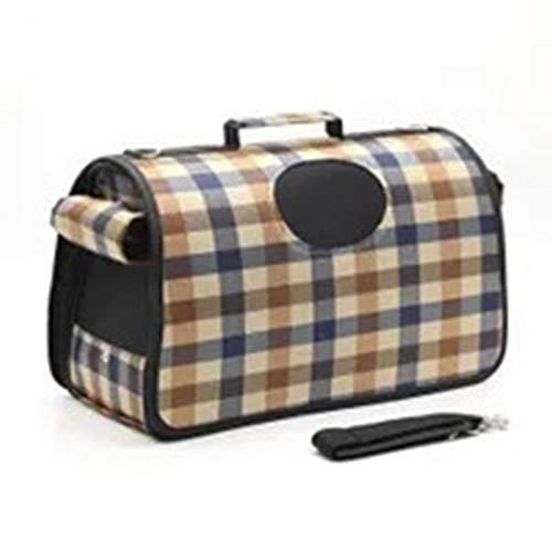 thematys Haustiertragetasche für Hunde und Katzen in 5 3 Größen - Hundetasche aus flexiblem und faltbarem Material - perfekt für Reisen (Style 2, L)