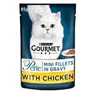 Gourmet Mini Fillets in Gravy Chicken Wet Food Pouch for Adult Cat, 24 x 85 g