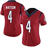 HOUWENJ Wātson 4# Texàns American Football Jersey, Texàns # 4 Wātson Rugby Jersey, Camiseta De Entrenamiento De Manga Corta Tops Deportivos Sudadera Red-S