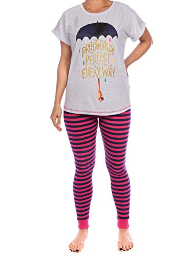 Disney Pijama para Mujer Mary Poppins Multicolor Size Large