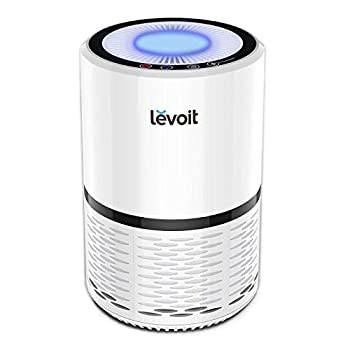 LEVOIT Air Purifiers for Home H13 True HEPA Filter for Smoke Dust Mold and Pollen in Bedroom Ozone Free Filtration System Odor Eliminators for Office with Optional Night Light 1 Pack White