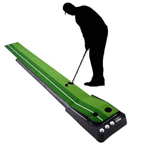 Signstek Golf Auto Rückkehr Puttingmatte, Indoor Outdoor Putting Trainer Matte für Zuhause Büro Gym